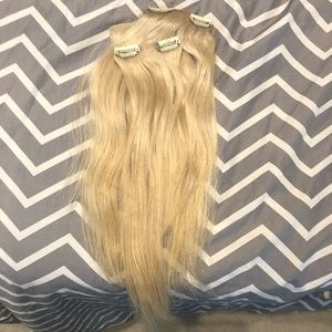 Other - 100% human hair blonde clip in extensions